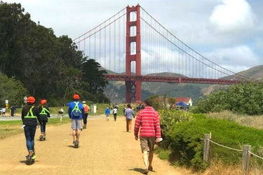 Private VIP Scooter Tour to Golden Gate Bridge